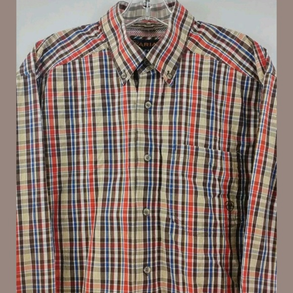 0476dec6 Ariat Shirts | Mens Pro Series L Long Sleeve Plaid Rodeo | Poshmark